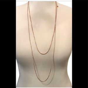 Long Rose Gold Necklace